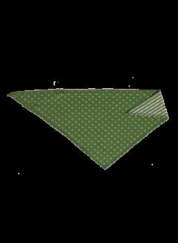 NICKY WESERSTRAND dětský šátek ze 100% biobavlny - zelená/přírodní