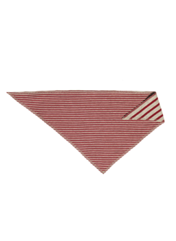 NICKY BREMER dětský šátek ze 100% biobavlny - červená/béžová
