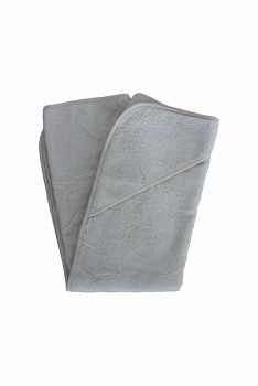 Dětská osuška s kapucí 100% biobavlny - šedá