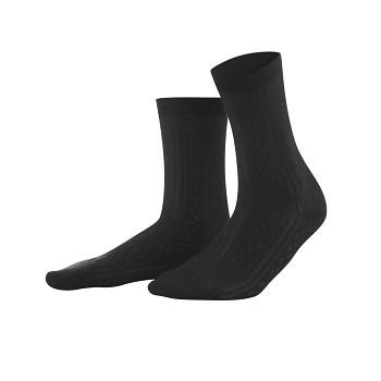KATALIN dámské letní ponožky z biobavlny - černá