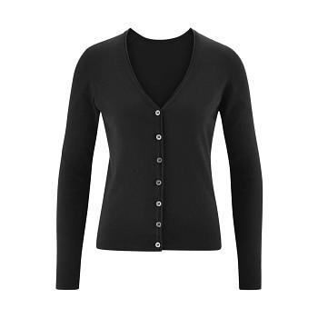 GITTE Dámský propínací svetr ze 100% biobavlny - černá