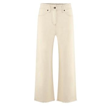 KIM Dámské džíny z biobavlny - přírodní