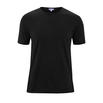 FABIAN Pánské tričko s krátkými rukávy ze 100% biobavlny - černá (2 kusy)