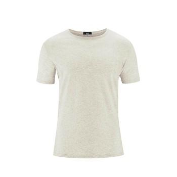FABIAN Pánské tričko s krátkými rukávy ze 100% biobavlny - přírodní melange (2 kusy)