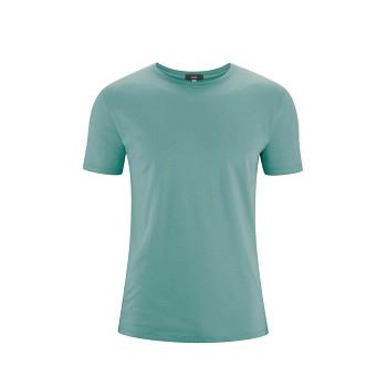 ILKO Pánské tričko s krátkými rukávy ze 100% biobavlny - světle modrá reef