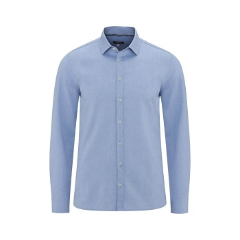 KAY pánská košile ze 100% biobavlny - světle modrá
