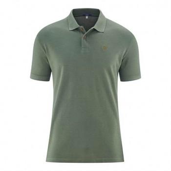 KENLEY pánské košilové triko z bambusu a biobavlny - šedozelená oregano