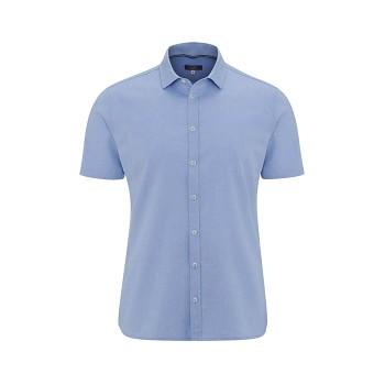 KELVIN pánská košile s krátkými rukávy ze 100% biobavlny - světle modrá