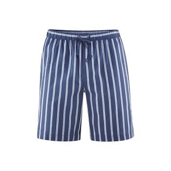 KRISTIAN pánské pyžamové kraťasy ze 100% biobavlny - modrá navy/azur