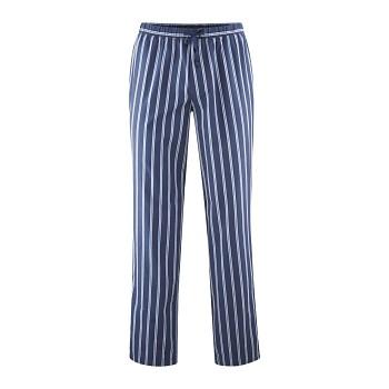 KLEMENS pánské pyžamové kalhoty ze 100% biobavlny - modrá navy/azur