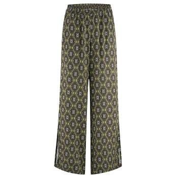 KAMILLA dámské kalhoty ze 100% EVO vlákna - černo-zelený vzor fern