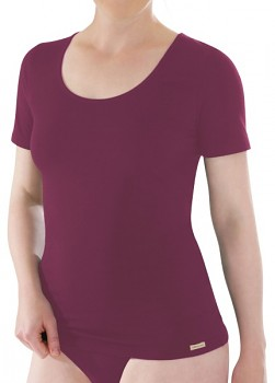 Comazo Earth Dámské tričko s krátkými rukávy z biobavlny - fialová brombeer