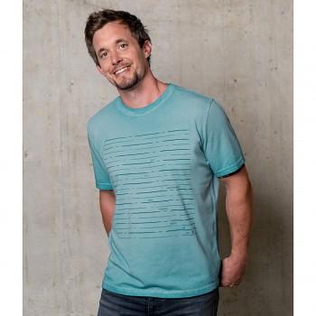 ECO Pánské tričko s krátkými rukávy ze 100% biobavlny s turmalínem - modrá