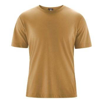 KORNEL Pánské tričko s krátkými rukávy ze biobavlny a viskózy - hnědá tobacco