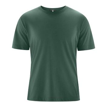 KORNEL Pánské tričko s krátkými rukávy ze biobavlny a viskózy - zelená mangrove