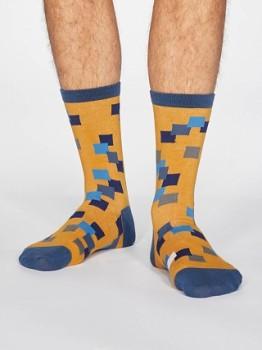 EVAN Pánské ponožky z biobavlny - žlutá