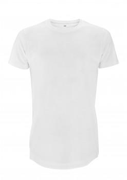 CC Dlouhé pánské tričko ze 100% biobavlny - bílá