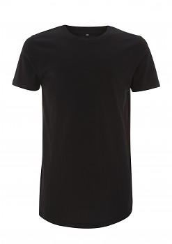 CC Dlouhé pánské tričko ze 100% biobavlny - černá