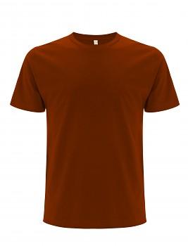 Pánské/unisex  tričko s krátkými rukávy z 100% biobavlny - tmavě oranžová