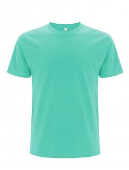 Pánské/unisex  tričko s krátkými rukávy z 100% biobavlny - modrozelená mint