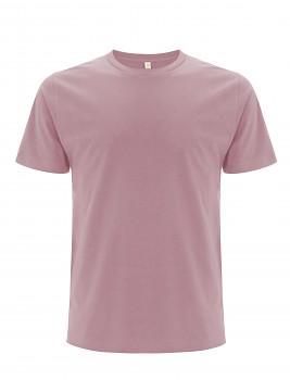 Pánské/unisex  tričko s krátkými rukávy z 100% biobavlny - světle fialová rose