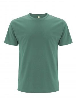 Pánské/unisex  tričko s krátkými rukávy z 100% biobavlny - šedozelená sage