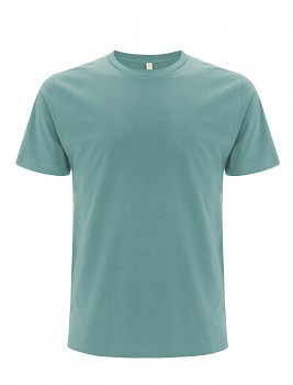 Pánské/unisex  tričko s krátkými rukávy z 100% biobavlny - šedozelená slate