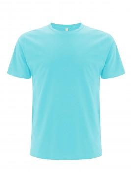 Pánské/unisex  tričko s krátkými rukávy z 100% biobavlny - tyrkysová
