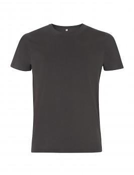 Pánské/unisex tričko s krátkými rukávy ze 100% biobavlny - šedá deep