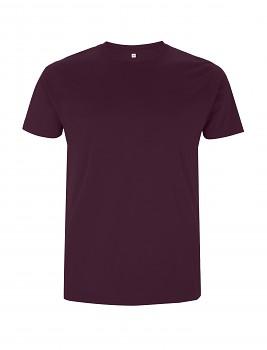 Pánské/unisex tričko s krátkými rukávy ze 100% biobavlny - fialová eggplant