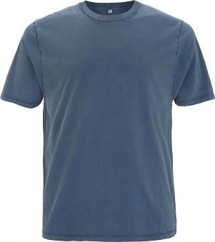 Pánské/unisex oversized tričko s krátkými rukávy ze 100% biobavlny - modrá stone wash denim