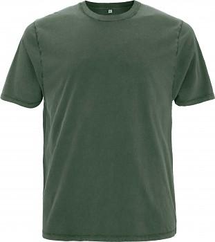 Pánské/unisex oversized tričko s krátkými rukávy ze 100% biobavlny - zelená stone wash