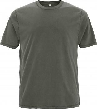 Pánské/unisex oversized tričko s krátkými rukávy ze 100% biobavlny - šedá stone wash