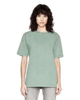 Pánské/unisex oversized tričko s krátkými rukávy ze 100% biobavlny - šedozelená stone wash sage