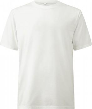 Pánské/unisex oversized tričko s krátkými rukávy ze 100% biobavlny - bílá stone wash
