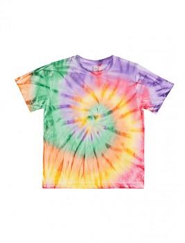 Dětské tričko z 100% biobavlny - duhová Tie Dye