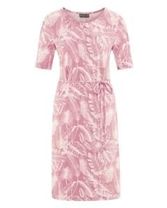 JUNGLE Dámské šaty z konopí a biobavlny - růžová rose