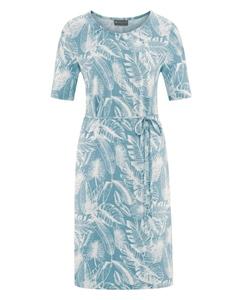 JUNGLE Dámské šaty z konopí a biobavlny - modrá wave