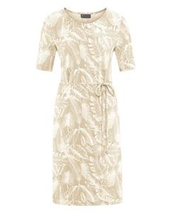 JUNGLE Dámské šaty z konopí a biobavlny - béžová gobi