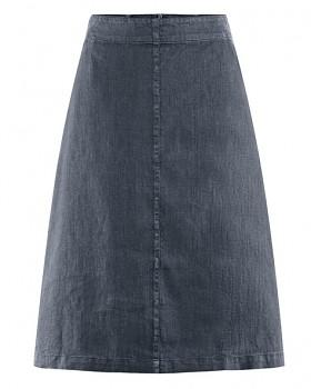 MIDI dámská sukně z konopí a biobavlny - tmavě šedá dark