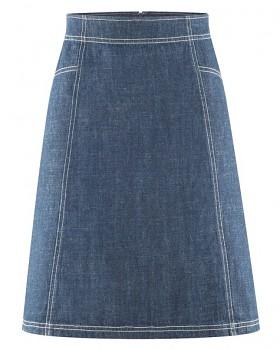 JEAN dámská riflová sukně z konopí a biobavlny - tmavě modrá indigo