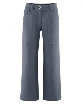 CULOTTE dámské kalhoty z konopí a biobavlny - tmavě šedá char