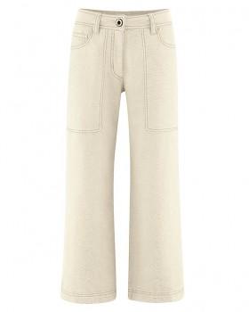 CULOTTE dámské kalhoty z konopí a biobavlny - přírodní