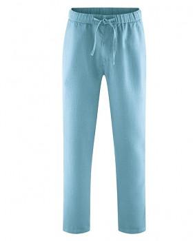 TRUEHEMP unisex kalhoty ze 100% konopí - modrá wave