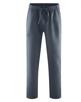 TRUEHEMP unisex kalhoty ze 100% konopí - tmavě šedá dark