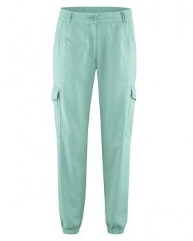 CARGOS dámské kalhoty z konopí a biobavlny - světle modrá sage