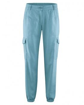 CARGOS dámské kalhoty z konopí a biobavlny - modrá wave
