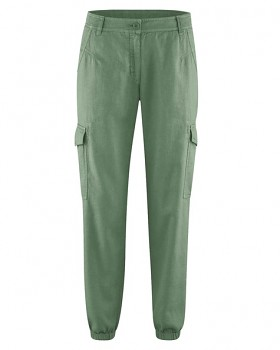 CARGOS dámské kalhoty z konopí a biobavlny - zelená herb