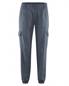 CARGOS dámské kalhoty z konopí a biobavlny - tmavě šedá dark