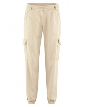 CARGOS dámské kalhoty z konopí a biobavlny - béžová gobi
